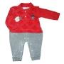 Macacão para Bebê Plush Bordado Team Gola Polo