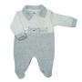 Macacão para Bebê Plush Gola Polo Bordado Amiguinhos