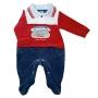 Macacão para Bebê Plush Gola Polo Bordado Athetic