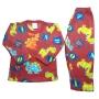 Pijama Infantil Soft Estampado Dinossauros e Letrinhas