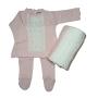 Saída Maternidade para Bebê em Tricot Vestido com Meia Calça