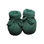 Sapato para Bebê em Tricot Ponto Arroz com Acabamento