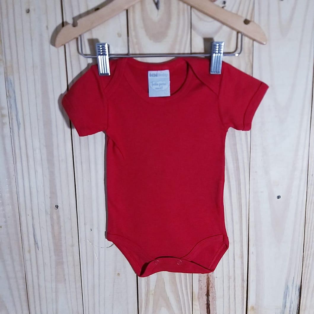 Body em Malha Leve Ribana  para Bebê Manga Curta