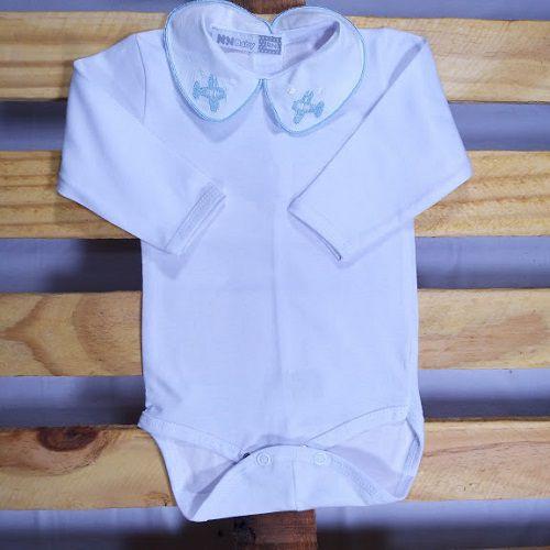 Body para Bebê  Gola Bordada  Aviaõ