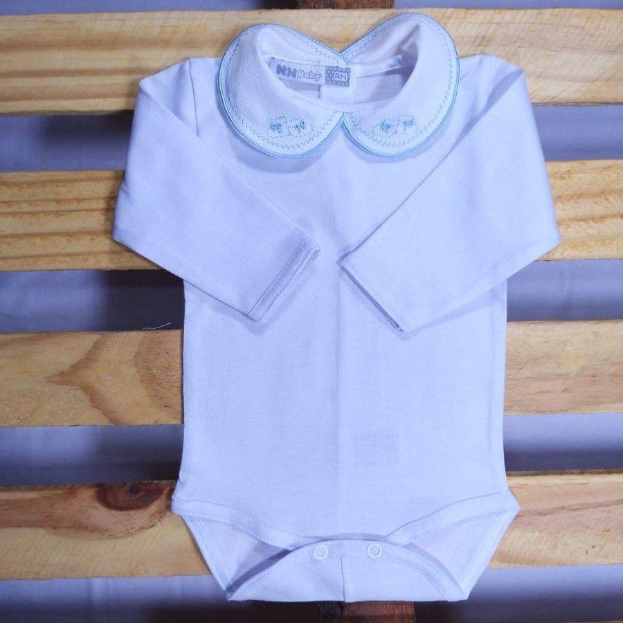 Body  para Bebê  Gola Bordada  Sapato