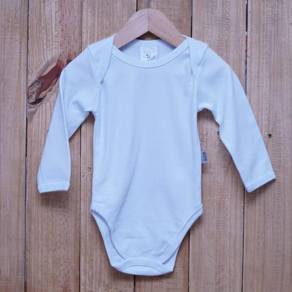 Body Infantil Manga Longa Suedine 100% Algodão