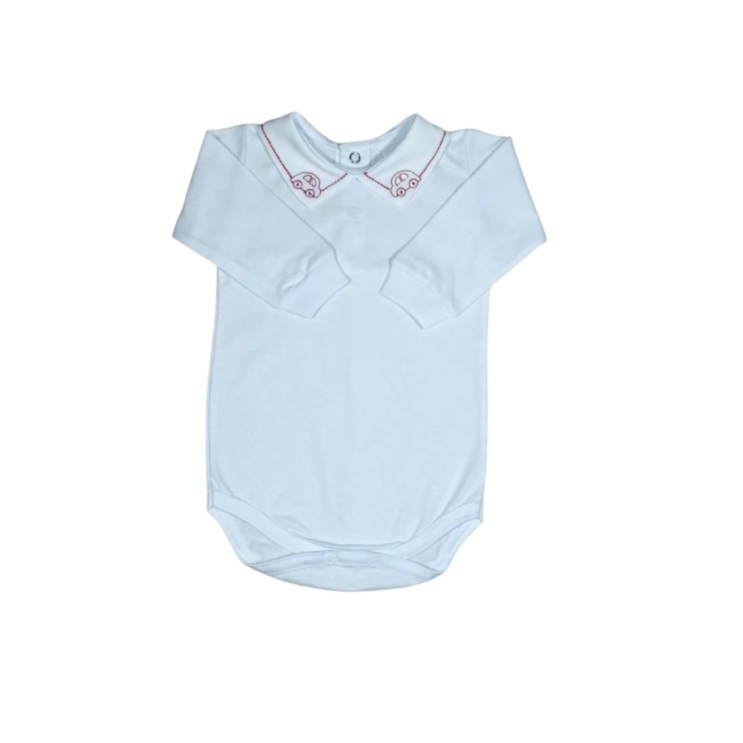 Body para Bebê com Gola Bordada Fusca Vermelho