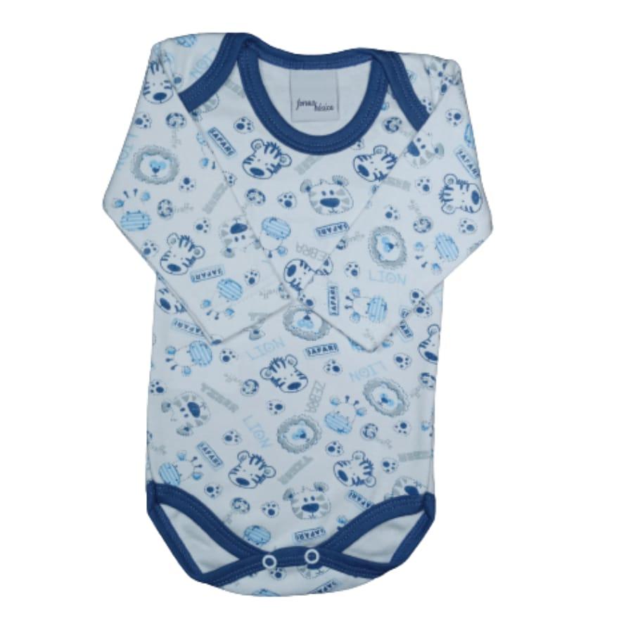 Body para Bebê em Malha Estampado Bichos