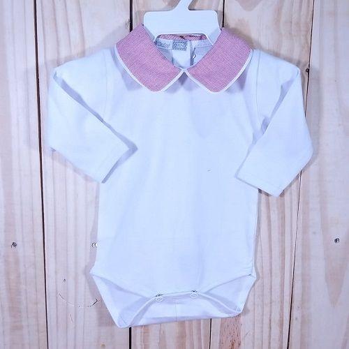 Body  para Bebê Gola Polo Vermelha