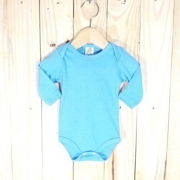 Body para Bebê Liso Azul Turquesa claro