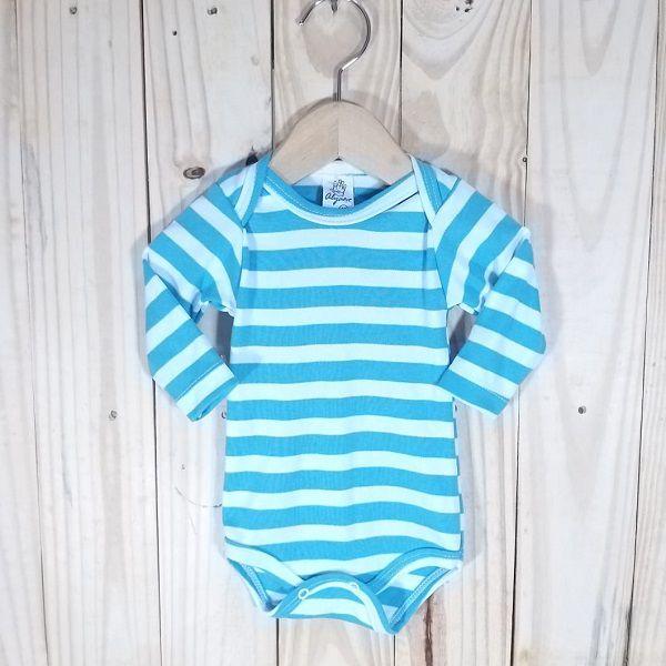 Body para Bebê Listrado Azul bb ou Verde