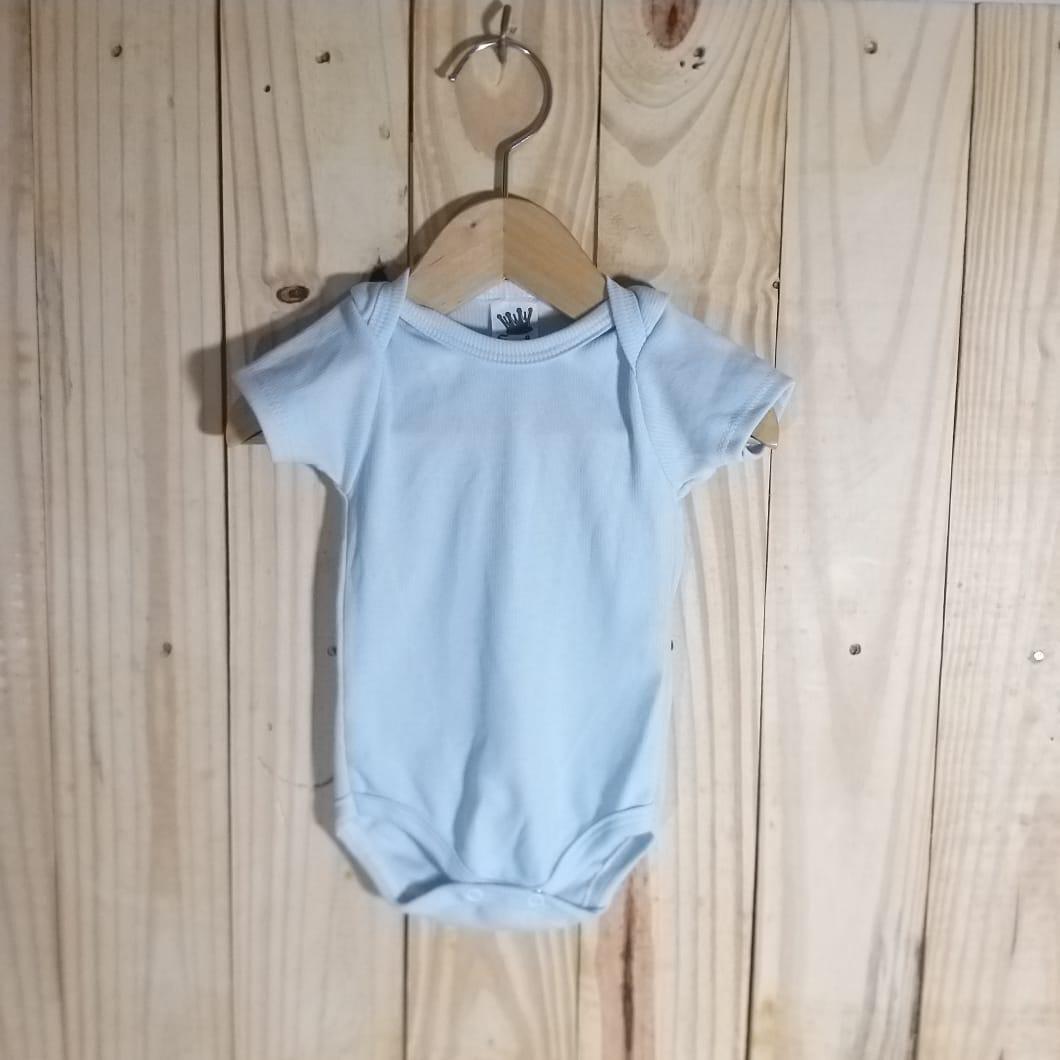 Body para Bebê Manga Curta Azul Claro