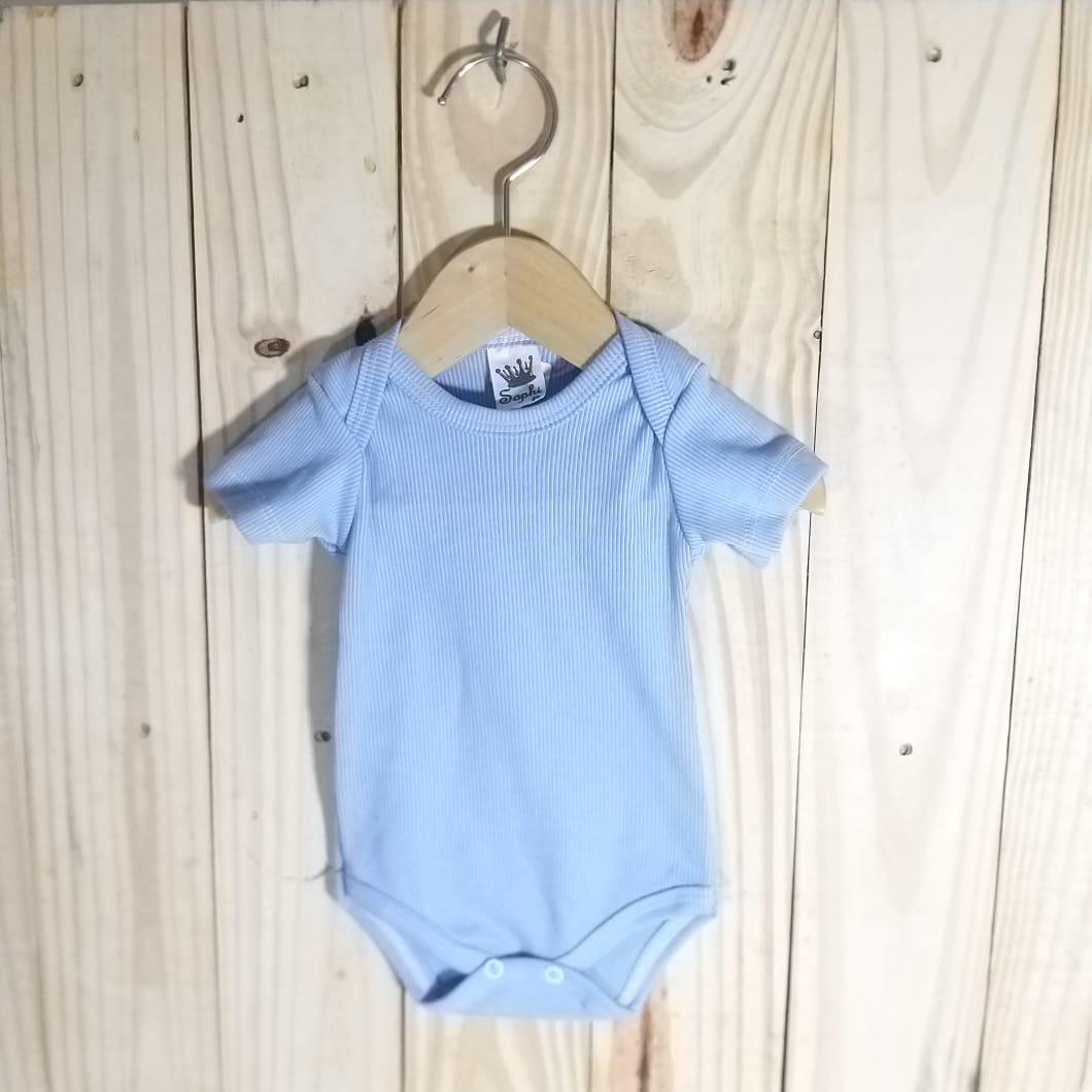 Body para Bebê 80% algodão Manga Curta Azul Escuro