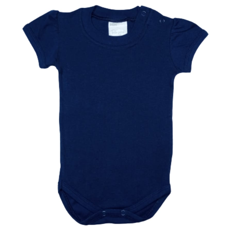 Body para Bebê Manga Curta Bufante Liso