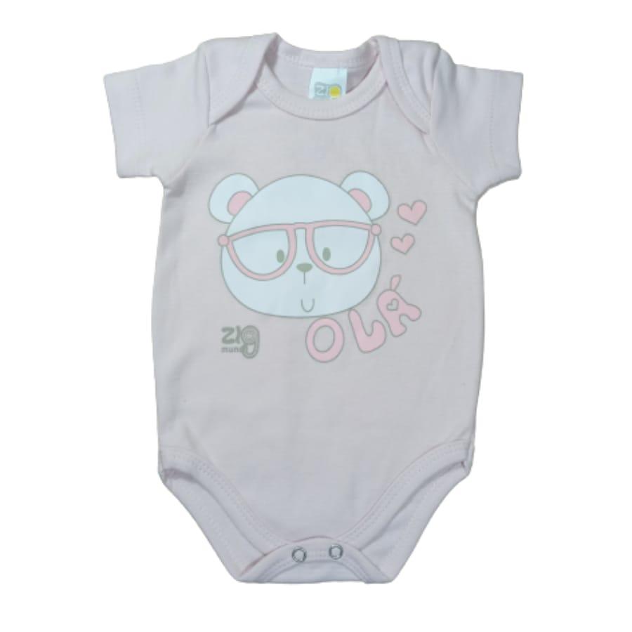 Body para Bebê Manga Curta Estampado