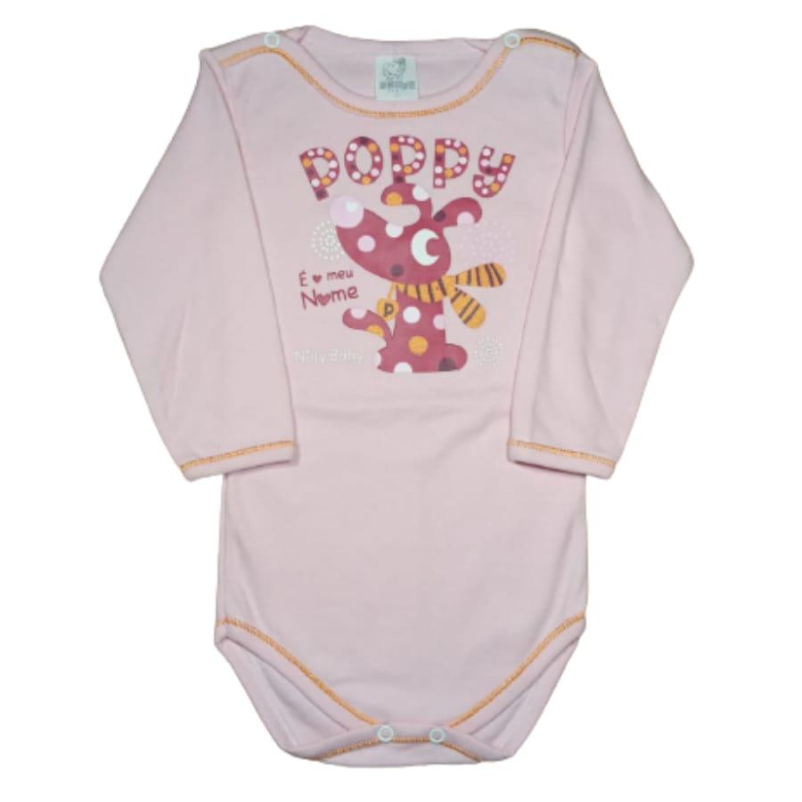 Body para Bebê Manga Longa Estampado