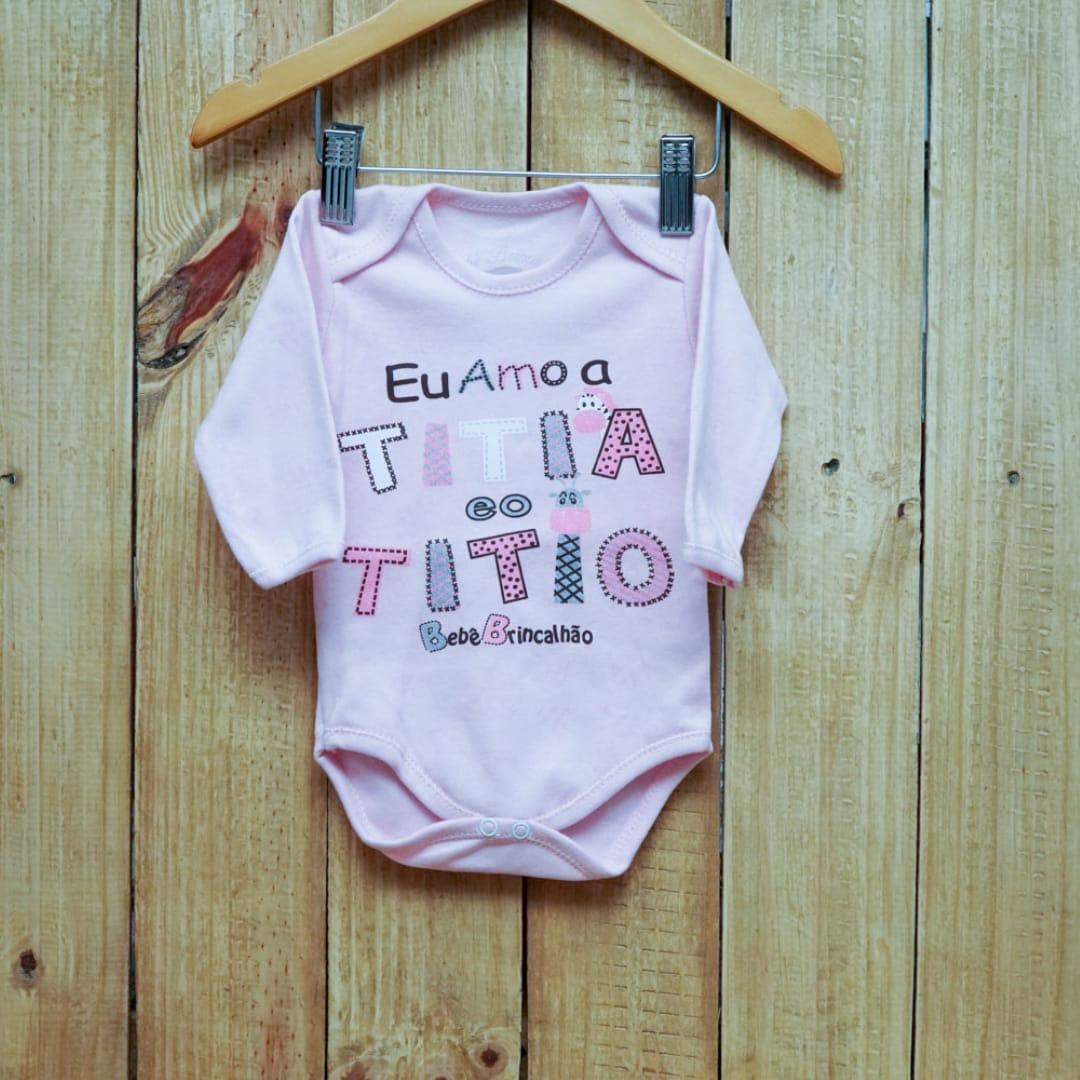 Body para Bebê Manga Longa Frases