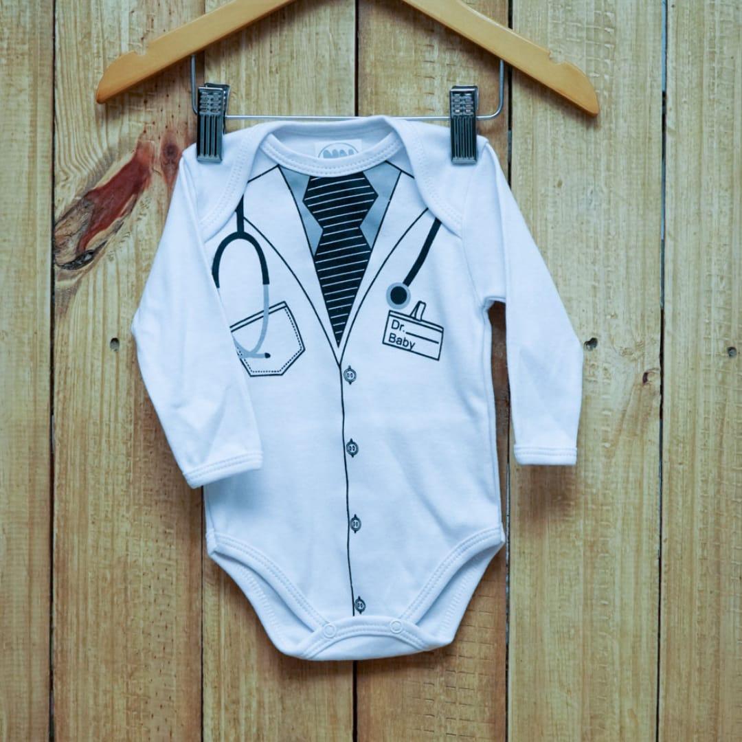 Body para Bebê Manga Longa Mèdico