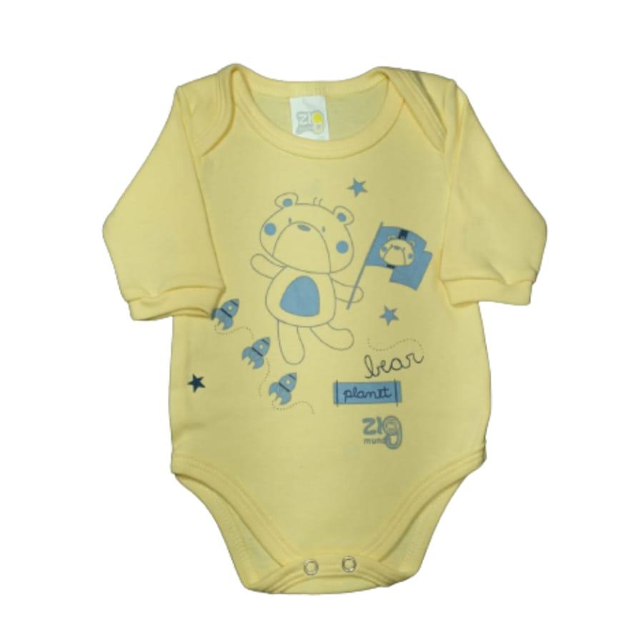 Body para Bebê Manga Longa Menino Modinha