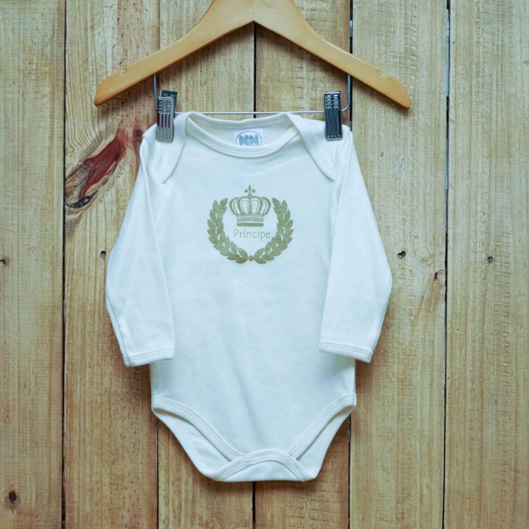Body para Bebê Manga Longa Principe