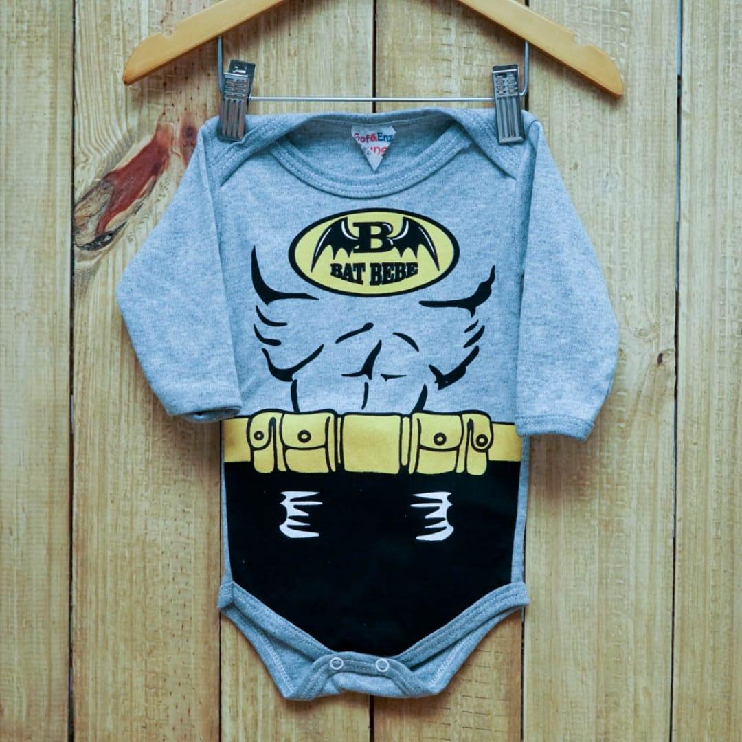 Body Para Bebê Personagem Batman