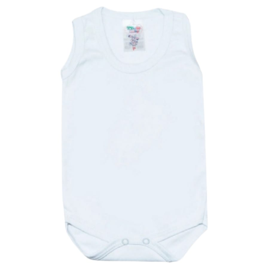 Body Regata Liso em Malha para Bebê