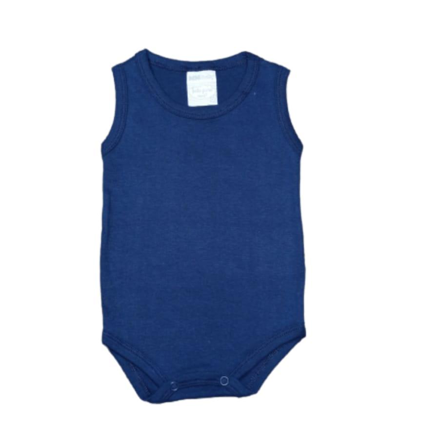 Body Regata Para Bebê Liso 100% Algodão