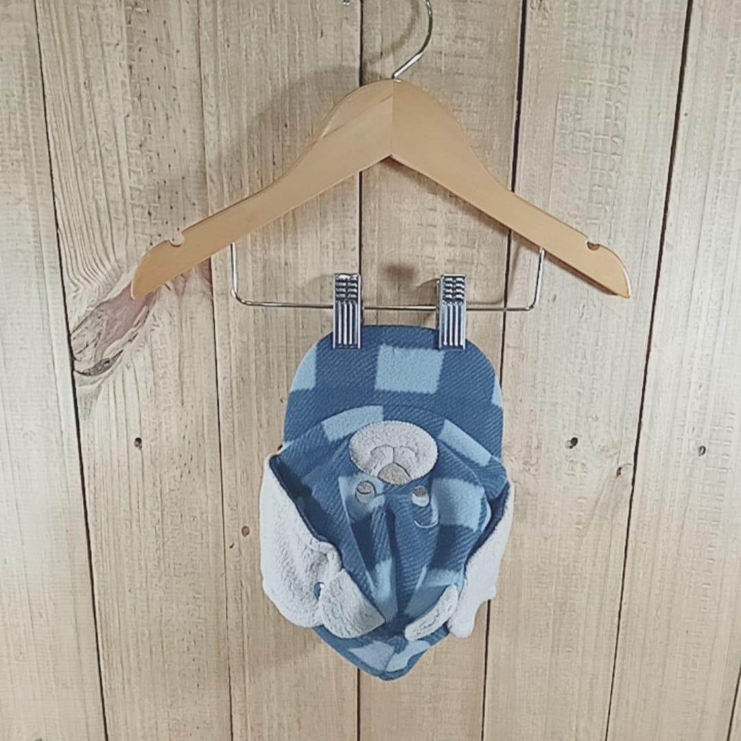 Bone para Bebê Ursinho Plush   Blue Jeans