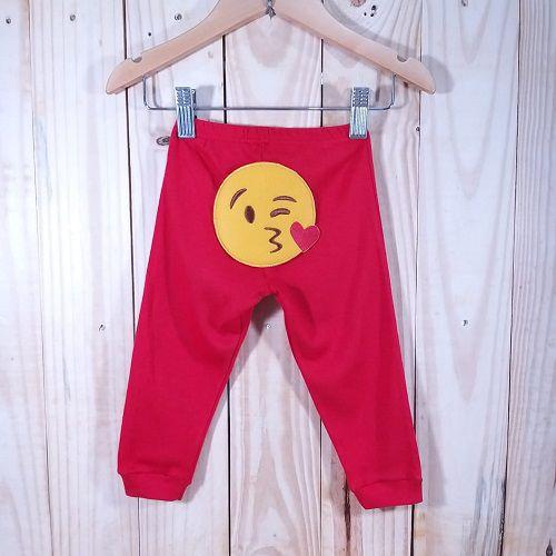Calça Culote para Bebê Skini Vermelho