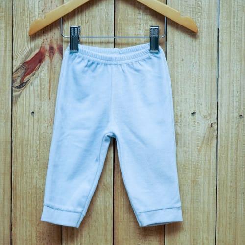 Calça para Bebê sem Pé de Plush Azul Claro