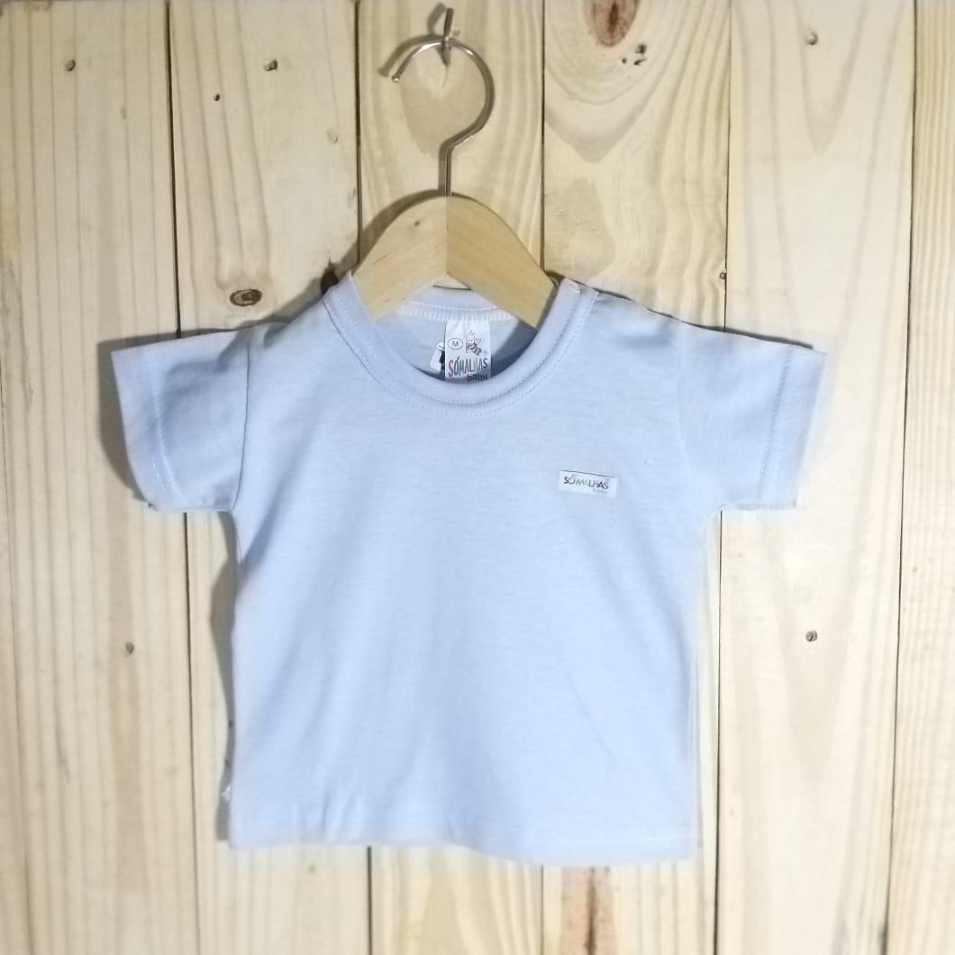 Camiseta para Bebê em Malha Manga Curta
