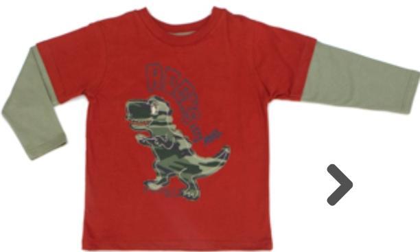 Camiseta Infantil Bordado Meia Malha Castanho Manga Longa