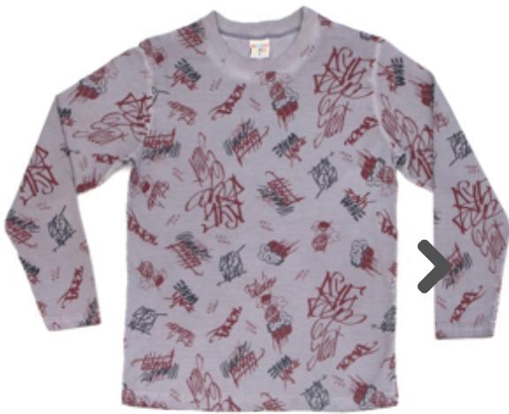 Camiseta Infantil Meia Malha Aco Manga Longa