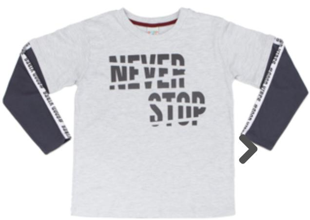 Camiseta Infantil Meia Malha Mescla Manga Longa