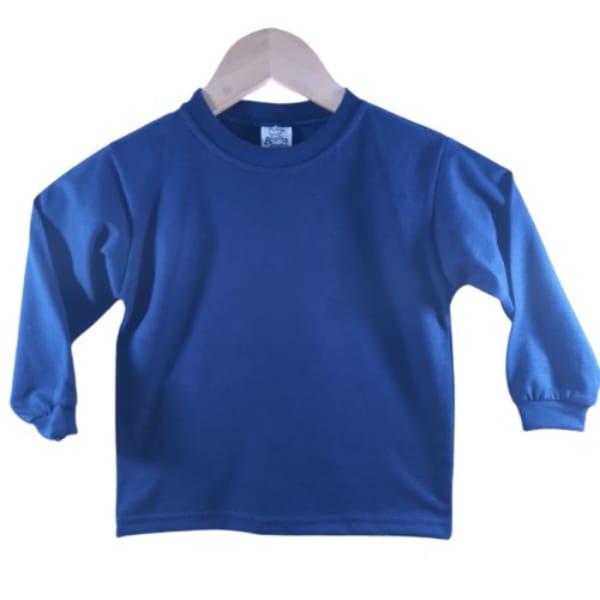 Camiseta Manga Longa Infantil Azul Marinho