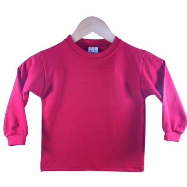Camiseta Manga Longa Infantil Vermelho
