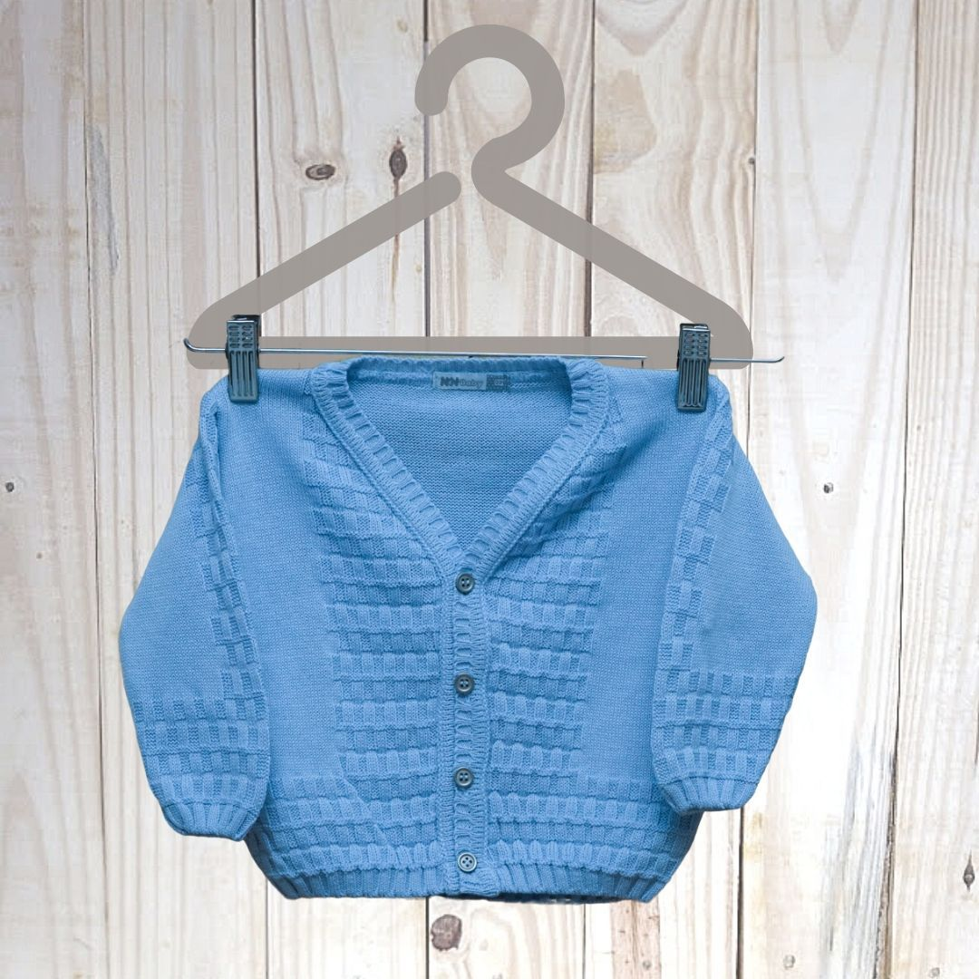 Casaco Infantil Azul Com Detalhes
