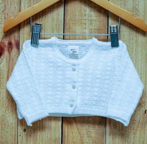 Bolero  Para Bebê Em Tricot Feminino Branco