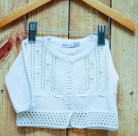 Casaco Para Bebê Em Tricot Feminino  OFF  White