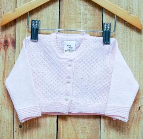 Bolero Para Bebê Em Tricot Feminino  Rosa