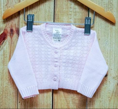 Casaco Para Bebê Em Tricot Feminino Rosa