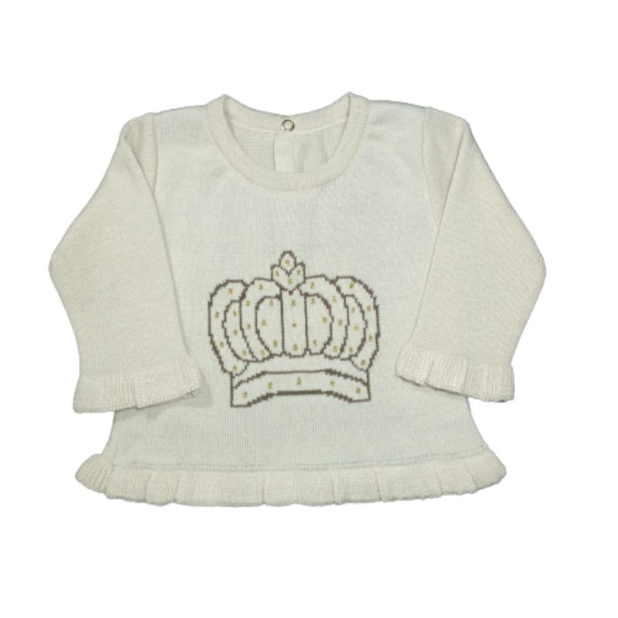 Casaco para Bebê Estampado Coroa
