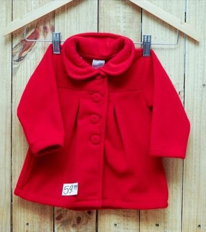 Casaco para Bebê Soft Vermelho