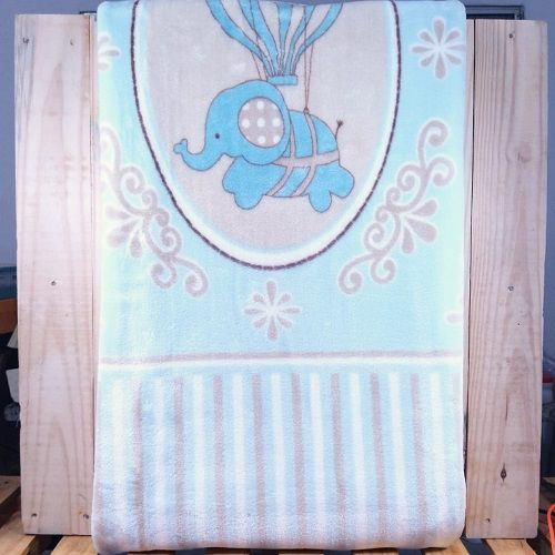 Cobertor para Bebê Azul Estampado