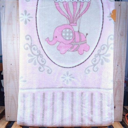 Cobertor para Bebê Rosa Estampado
