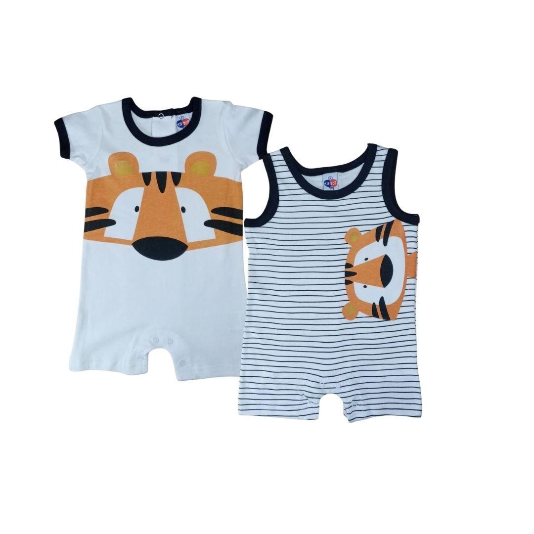 Combo Dois Macacões Estampado Tip Top Baby