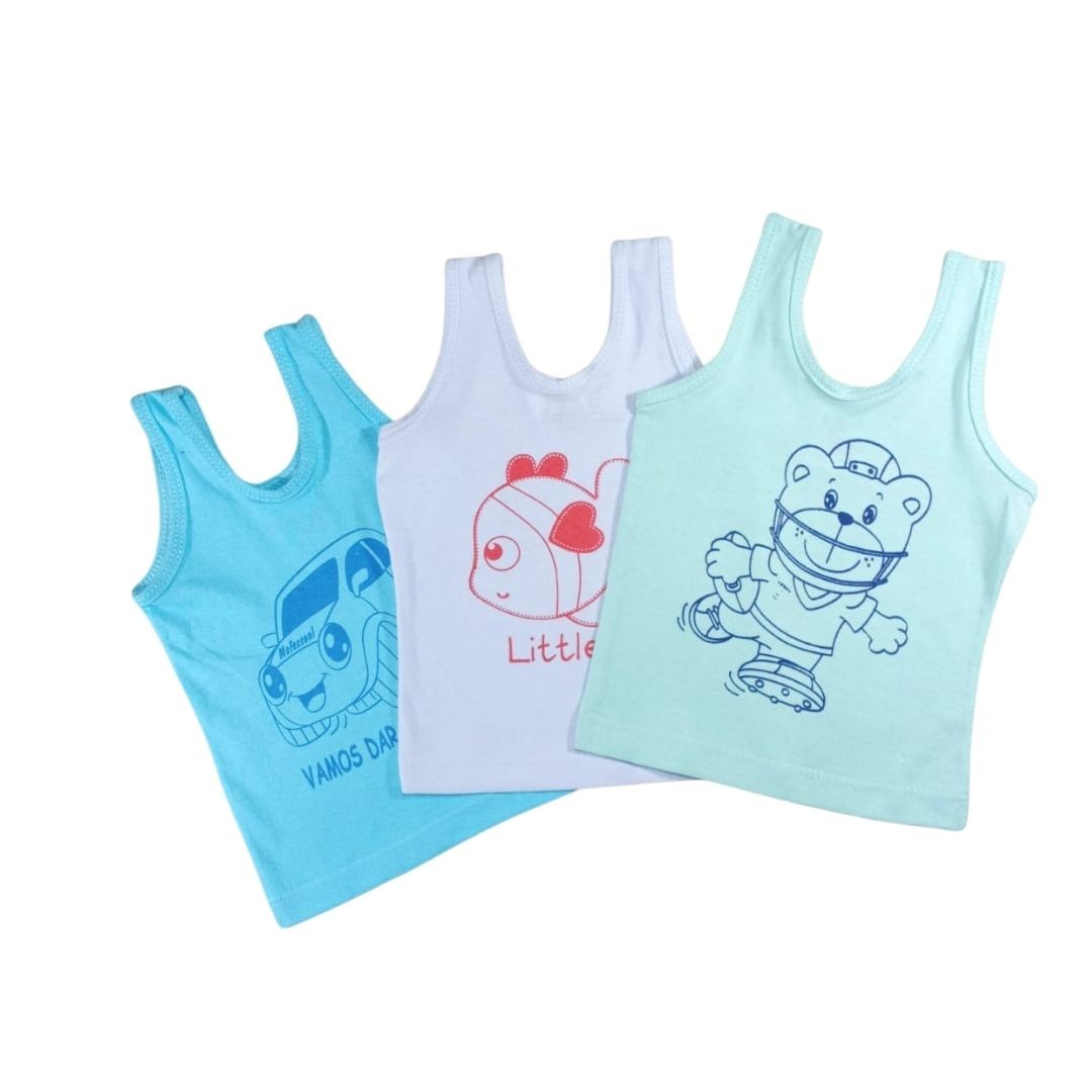 Combo Três Camisetas Regata Baby