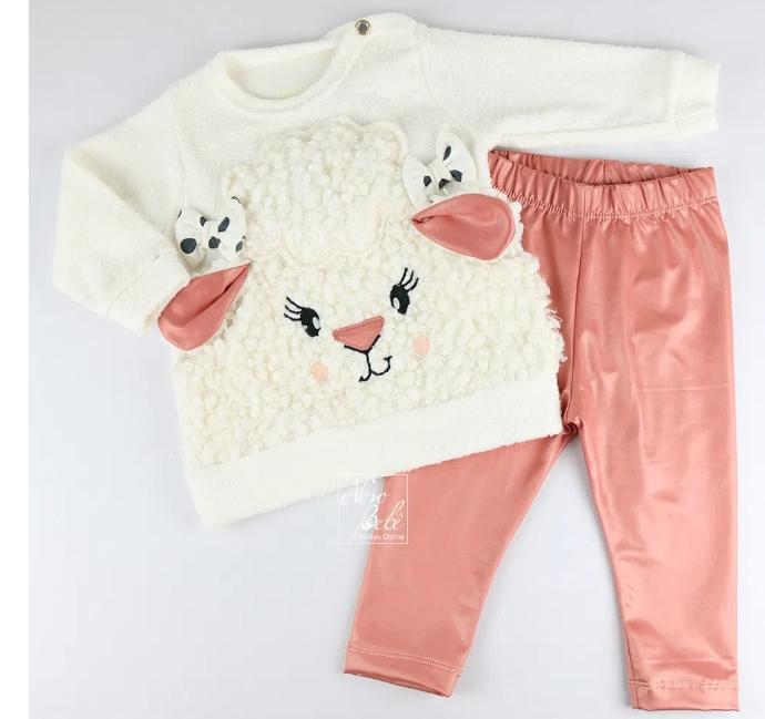 Conjunto Infantil Blusa e Calça para Bebê Thermo Cirré Ovelha