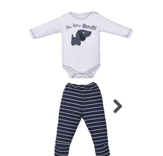 Conjunto Body para Bebê  e Culote Suedine Cachorrinho