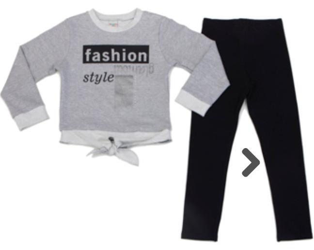 Conjunto Infantil bordado,com calça Leggin Elastico na cintura